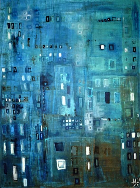 kunstenaar-l-tuziasm-schilderij-blue-city