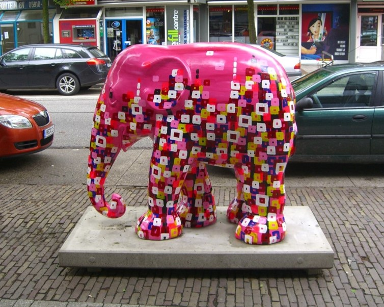 kunstenaar utrecht kunst ltuziasm artist l-tuziasm elephant parade emmen
