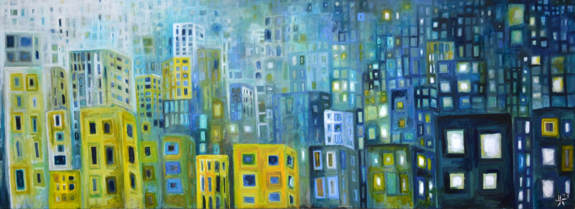 kunstenaar utrecht kunst ltuziasm l-tuziasm schilderij art artist painting urban landscape city trippin day and night