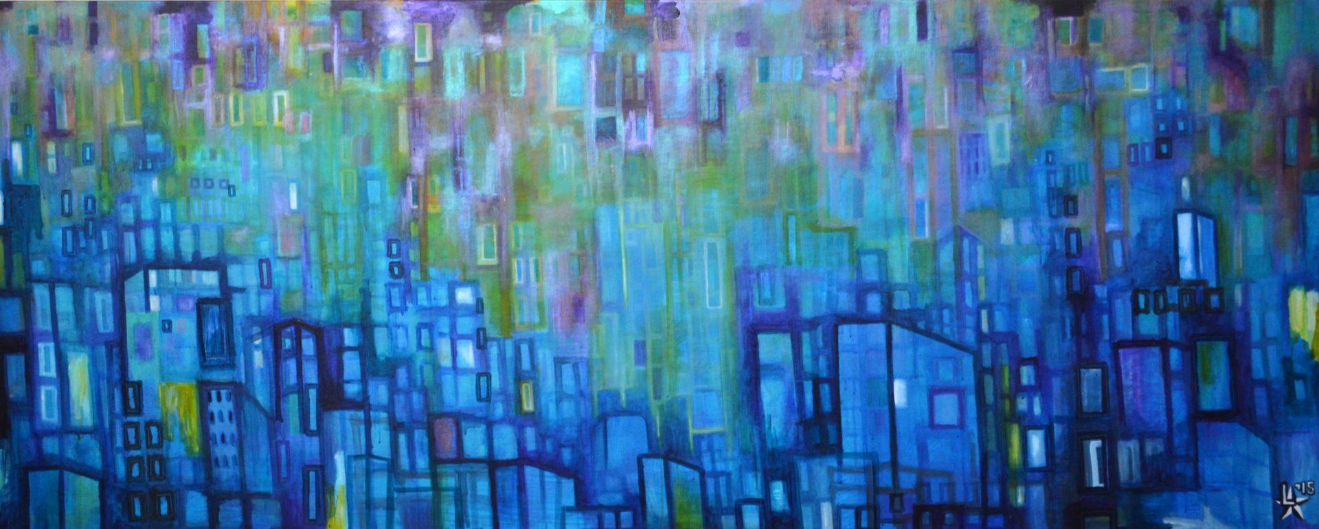kunstenaar utrecht kunst ltuziasm l-tuziasm schilderij art artist painting urban landscape city trippin fuel