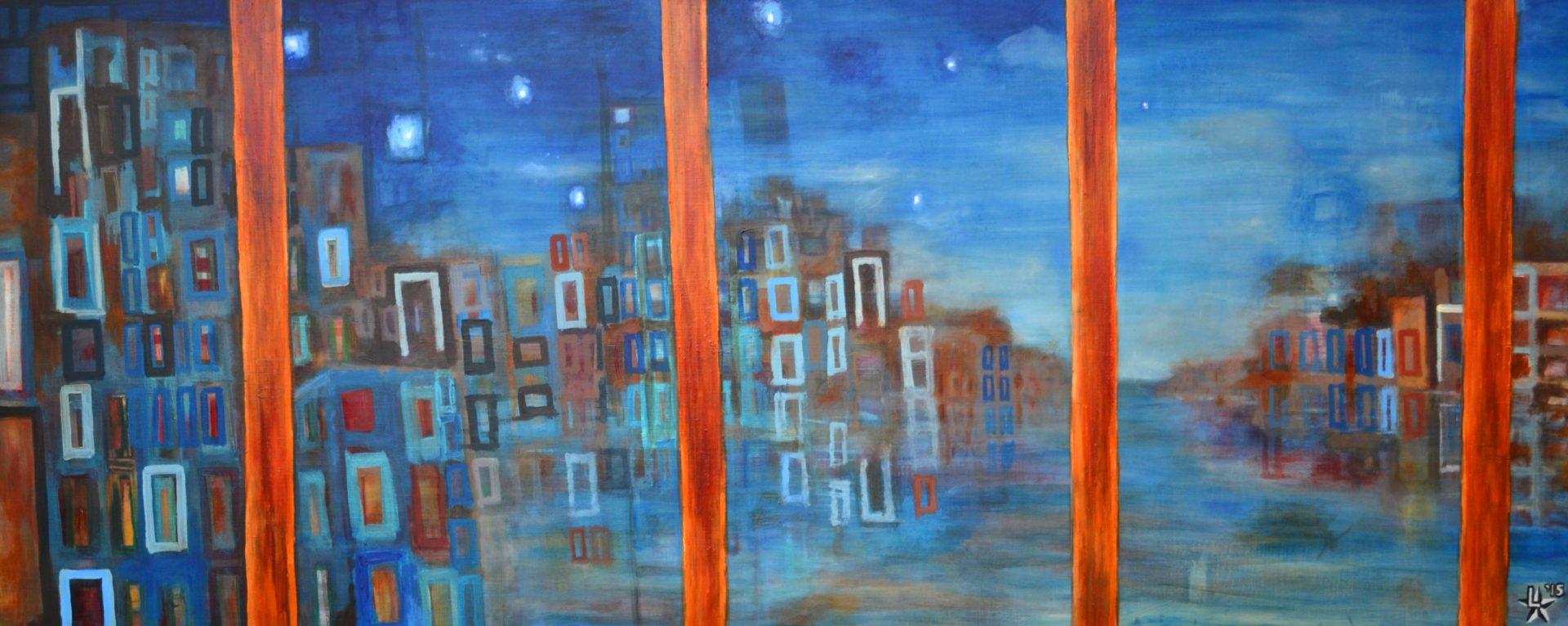 kunstenaar utrecht kunst ltuziasm l-tuziasm schilderij art artist painting urban landscape city trippin harbour view
