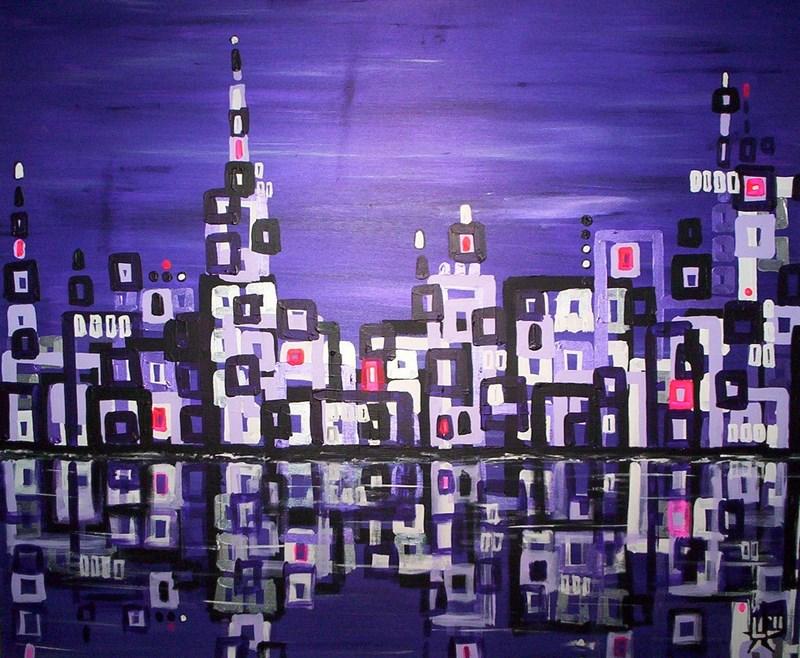schilderij-painting-kunstenaar-artist-l-tuziasm-urban-urbanlandscape-contemorary-art-city-reflection
