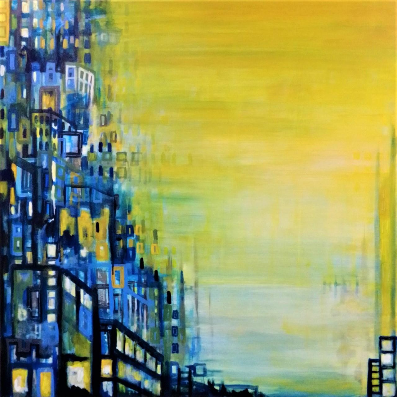 new year l-tuziam schilderij painting artist urban landscape