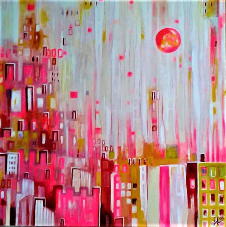 sundays in spring l-tuziasm painting art kunst schilderij contemporary art